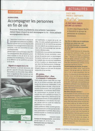 Journal des paroisses regards octobre 2016